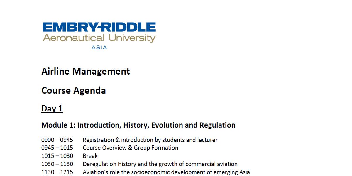 Airline Management Course Agenda v2-min