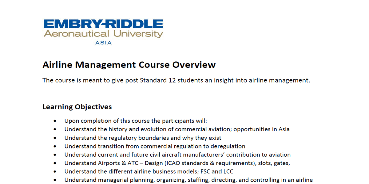 Airline Management Course Overview-min