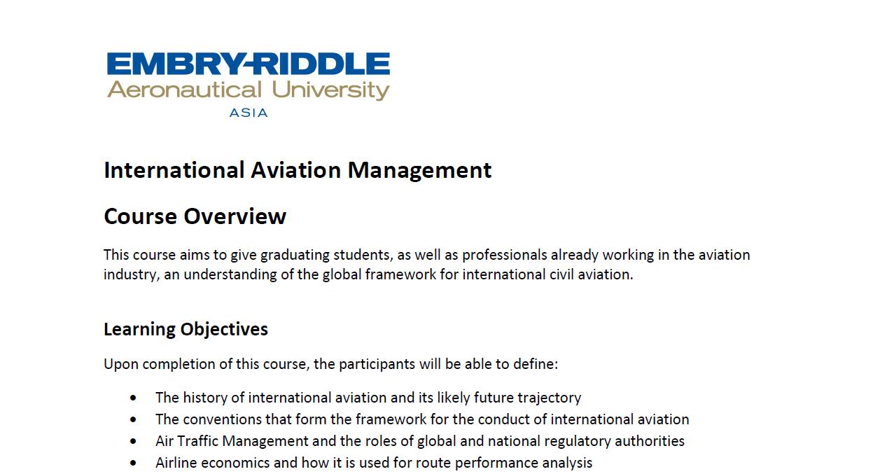 International Aviation Management Course Overview v2-min